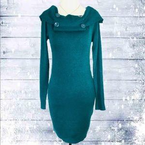Majora Turquoise Long Sleeve Sweater - L